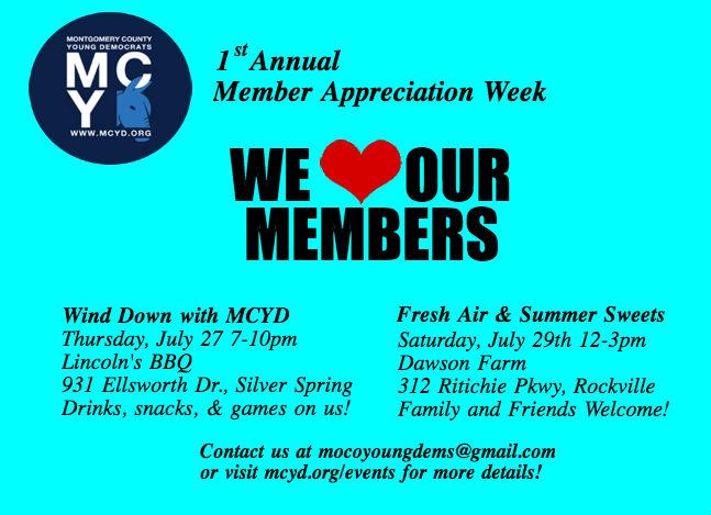 MCYD Member Appreciation Week 2017