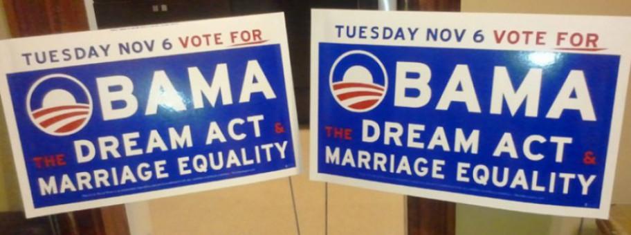 Obama Banner Vote